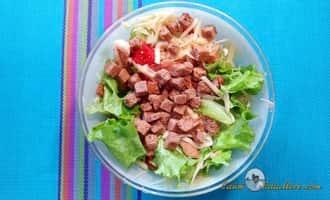 как приготовить салат цезарь пошаговый