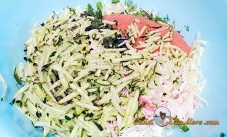 салат из огурцов с икрой минтая