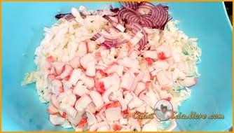 салат +с креветками классический простой