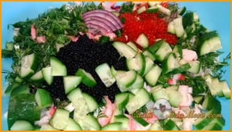 салат +с креветками +и огурцом рецепт