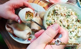 фаршированные кальмары закуска