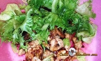 салат из вареного мяса и огурцов