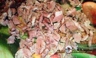корейский салат из огурцов и мяса