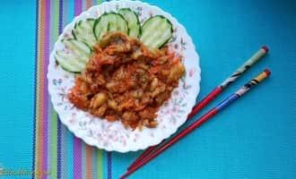 баклажаны жареные +на сковороде, баклажанами жареные +с чесноком +с фото