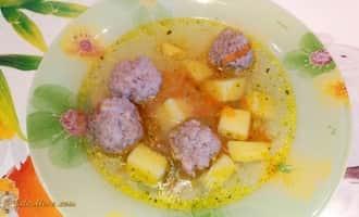 диетический суп с фрикадельками, диетические супы простые и вкусные