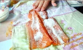 Горбуша в соли