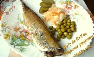 Сервировка сайры, приготовленной дома по рецепту и фотоот Petr de Cril'on