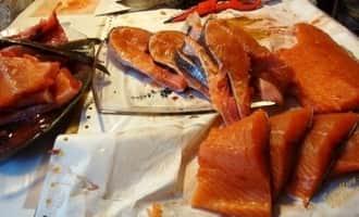 как разделать лосось для засолки, как разделать лосось на филе видео