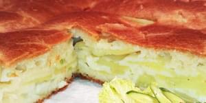 заливной картофельный пирог, картофельный пирог на кефире, пироги на картофельном отваре