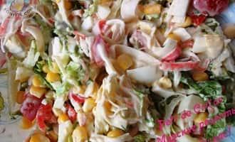 крабовый салат рецепт с капустой