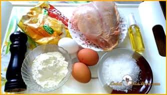 как приготовить куриные наггетсы на сковороде ингредиенты
