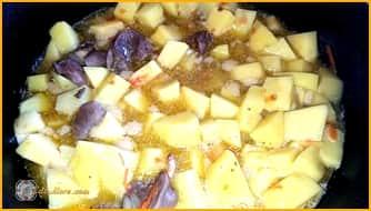 куриные сердечки с картошкой рецепт, куриные сердечки рецепт жареные