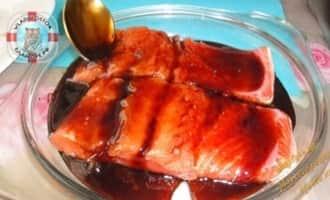 лосось под соусом, лосось в глазури