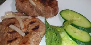 как приготовить мясо на гриле, мясо на сковороде гриль рецепты