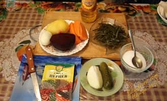 сухая морская капуста, вкусный салат из морской капусты с фото