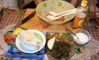 морская капуста с кальмаром рецепт, салат с кальмарами и пекинской капустой рецепт