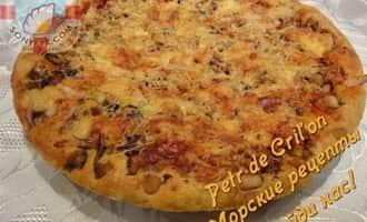 пицца с морепродуктами, результат