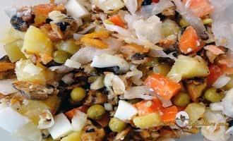 Готовый салат из мидий овощной. Рецепт от Petr de Cril'on