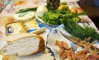Простые бутерброды с рыбой фото. Ингредиенты