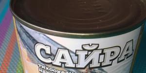 сайра в масле доброфлот, салат мимоза с сайрой и маслом