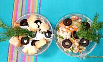 салат с иваси, салат из иваси консервы, салат с консервой иваси