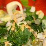 Салат с кальмаром и огурцом фото и видео