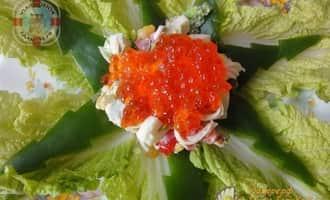 крабовый салат,  рецепт крабового салата +с капустой