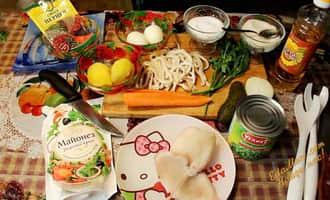 салат с кальмаров и огурцов рецепт, рецепт салата с кальмаром и огурцом