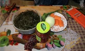 рецепт солянки из капусты, салат из морской капусты фото
