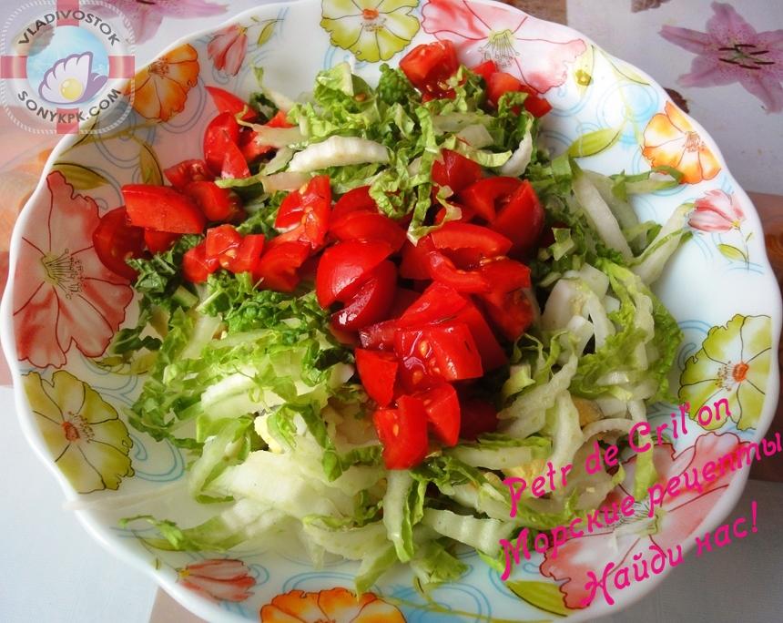 крабовый салат с китайской капустой