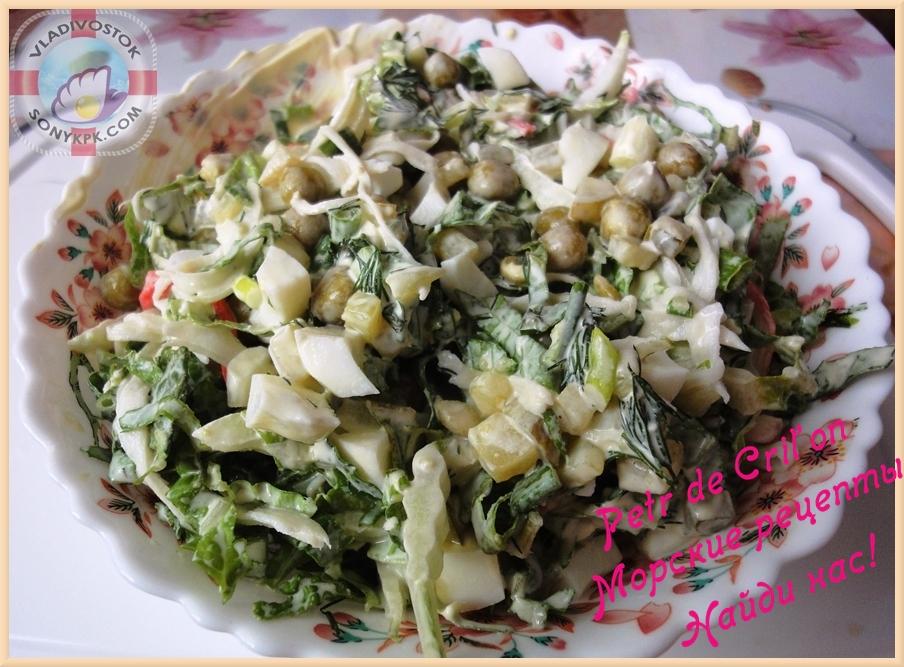 Крабовый салат с огурцом. Рецепт от Petr de Cril'on